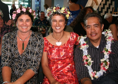 Kirsty Griffin, Therese Mangos and John Utanga